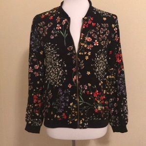 Cynthia Rowley Size S Floral Bomber Jacket